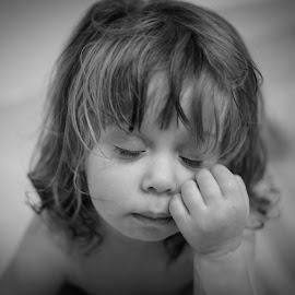 Tired Girl by Michael Last - Babies & Children Children Candids