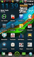 Screenshot of GLaSSMiX CM7 Theme ( Free )