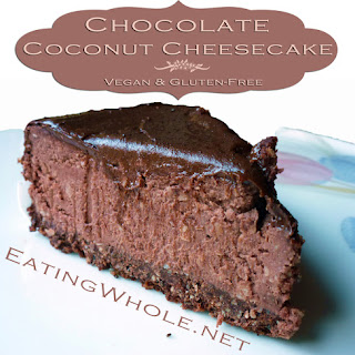 Chocolate Coconut Cheesecake with Chocolate Ganache