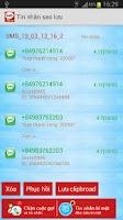 Screenshot of Sao lưu tin nhắn