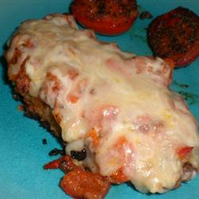 Crispy Italian Chicken Topped with Mozzarella
