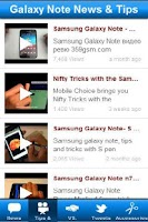 Screenshot of Galaxy Note News & Tips