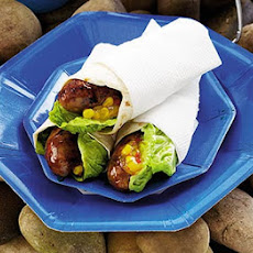 Sticky Sausage Wraps