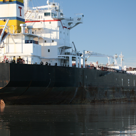 becalmed on the Hudson by Alec Halstead - Transportation Other (  )