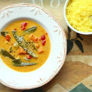 Thai Curry with Saffron Lemon Rice
