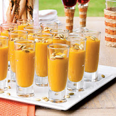 Spiced Butternut Squash-and-Pear Soup Shooters