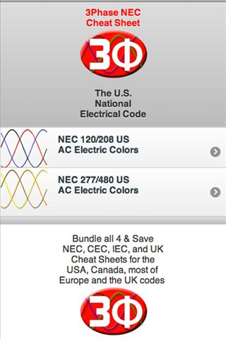 3Ph Cheat Sheet NEC Electrical