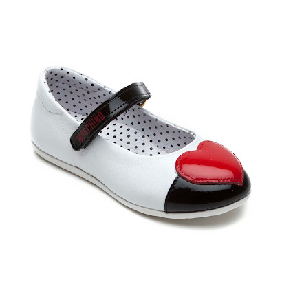 Moschino Patent Heart Shoe BAR SHOE