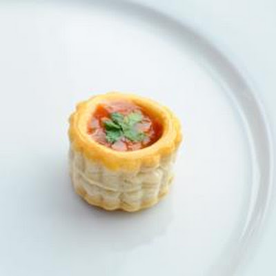 Salsa And Coriander Canapé