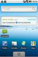 Screenshot of Widget4Sipgate