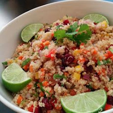 Cranberry and Cilantro Quinoa Salad