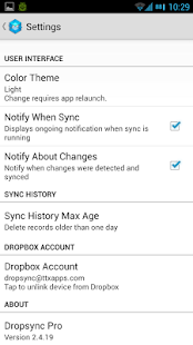 Dropsync (Dropbox Autosync) Screenshot