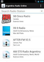 Screenshot of Argentina Radio Online