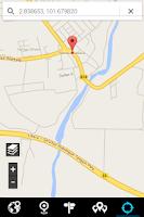 Screenshot of GPS Map using Google Maps