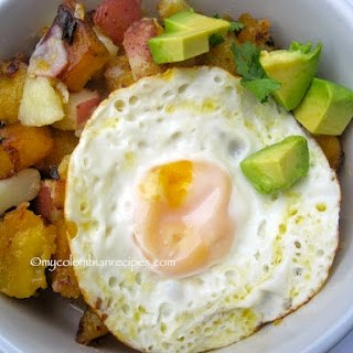 Sweet Plantain and Potato Hash