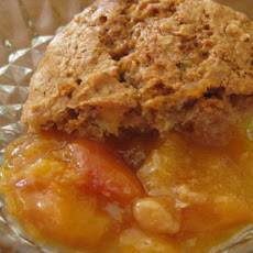 Peach Cobbler With Oatmeal Cookie Topping