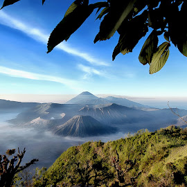 Mount Bromo by Theo Widharto - Landscapes Mountains & Hills ( mountains and blue sky, mountains, volcano, mountain, mount bromo, Earth, Light, Landscapes, Views,  )