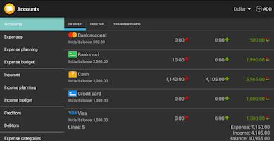 Screenshot of Home Bookkeeping
