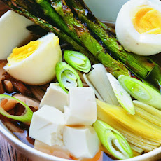 Michael Natkin's Soba Noodles in Shiitake-Shoyu Broth with Spring Vegetables