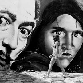 Salvador Dalí / Stiv Mekari by Boricic Goran - City,  Street & Park  Street Scenes ( . )