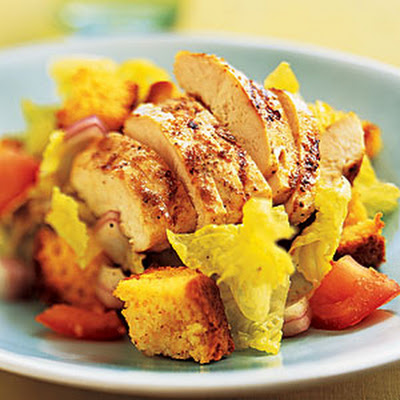 Chicken-and-Cornbread Salad with Lime