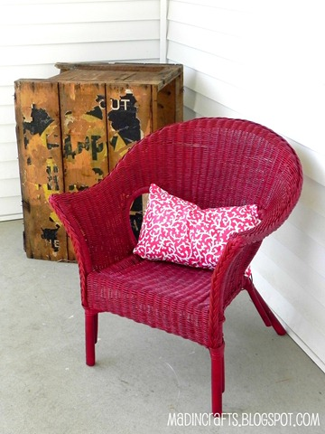 wicker chair front porch