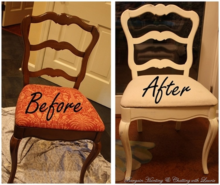 Bargain Hunting with Laurie-painted chairs
