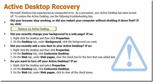 Fixed Aktive Desktop Recovery