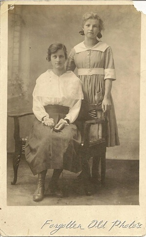 Esther Rose and Helia Erickson Postcard Duluth