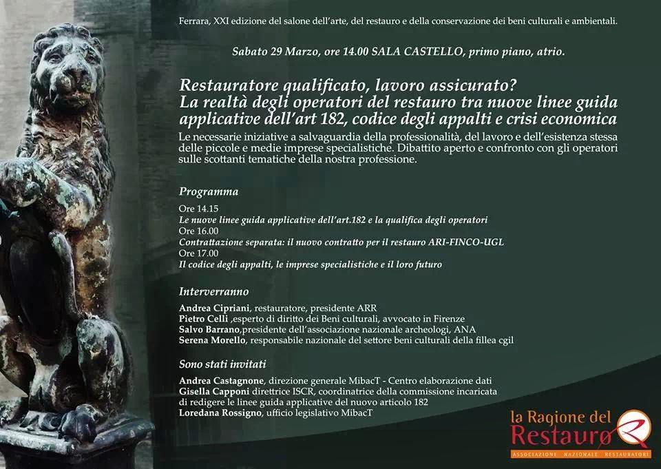 La Ragione Del Restauro.Frammenti Di Carta Marzo 2014