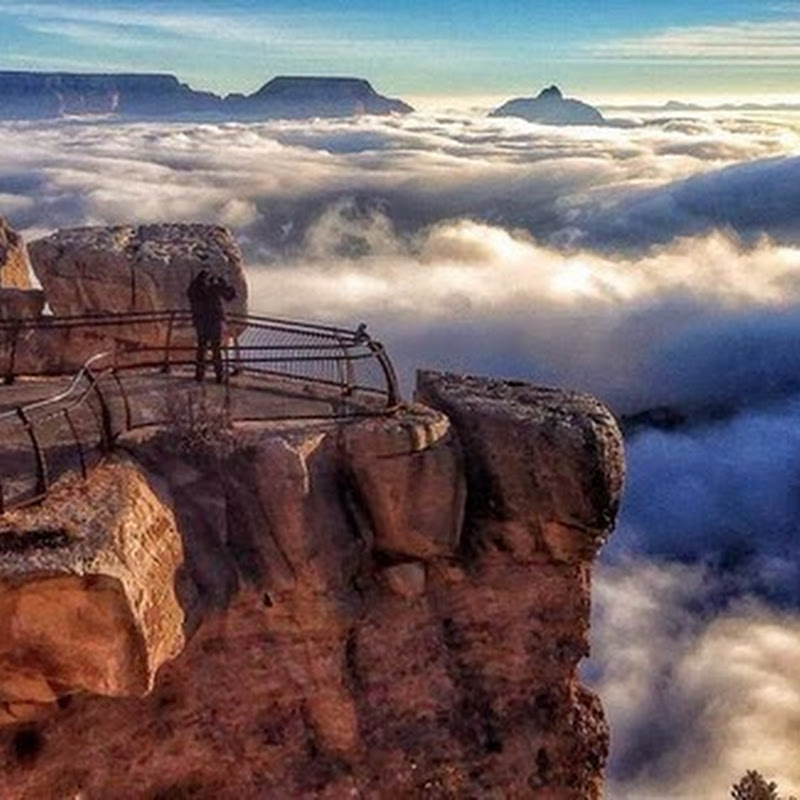 Rare Weather Phenomenon Creates River of Clouds Over Grand Canyon
