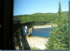 5516 Ontario - Sault Ste Marie - Agawa Canyon Train Tour  - curved Montreal River trestle & power dam