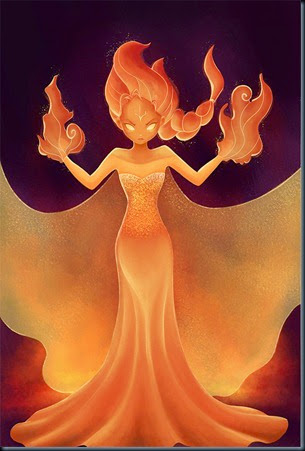Frozen-fire-queen-elsa-by-Lynne-Liu
