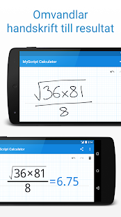 MyScript Calculator– miniatyr av skärmdump