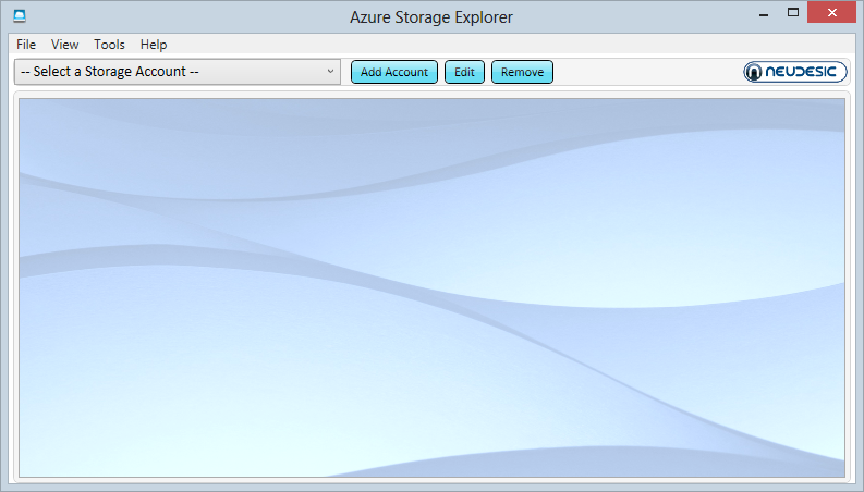 The Azure Storage Explorer