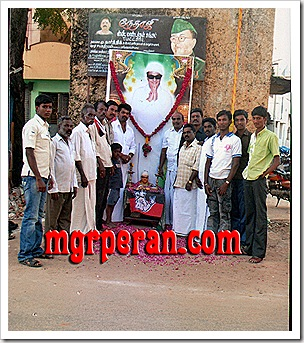 MGR fans in Pazhani
