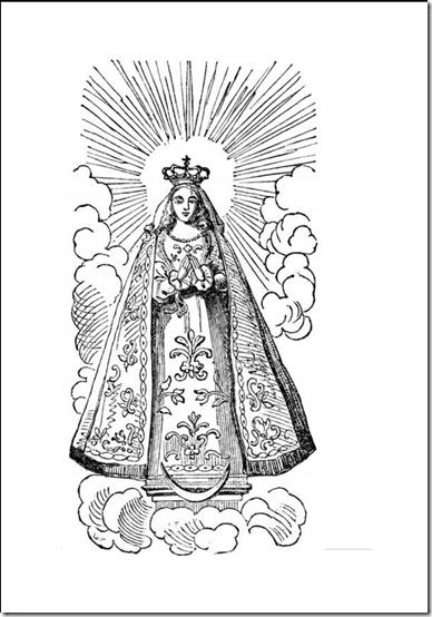 Colorear Natividad de la Virgen María