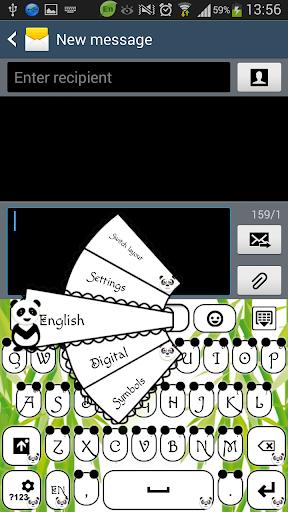 GO输入法可爱的熊猫