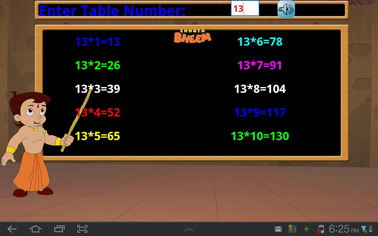Bheem multiplication tables android apps on google play bheem multiplication tables screenshot gamestrikefo Gallery