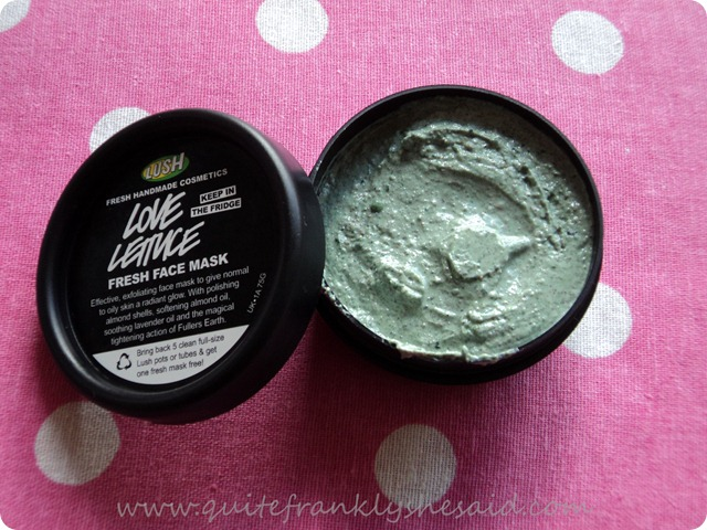 Lush Love Lettuce Fresh Face Mask 2