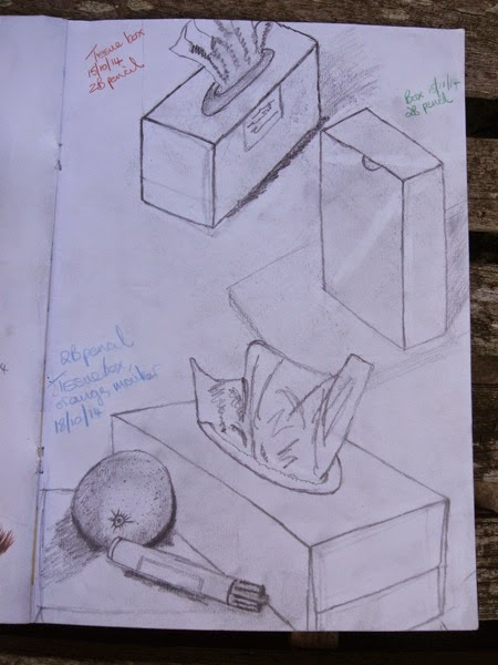 Sketchbook boxes