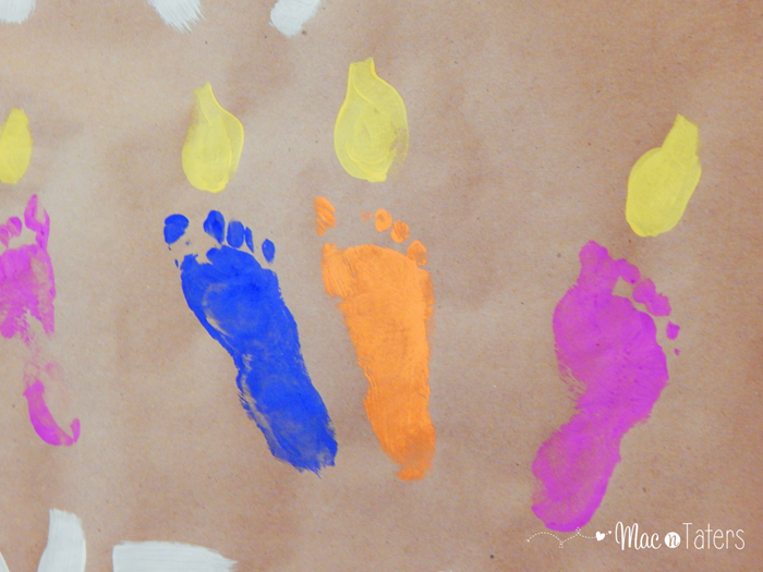 Happy Birthday Baby Footprint Candle Banner2