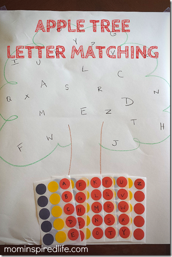 Apple Tree Letter Matching #preschool #alphabet