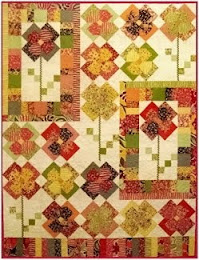 Green Fairy Quilts Flower Patch Quilt