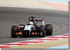 Perez nei test in Bahrain 2014