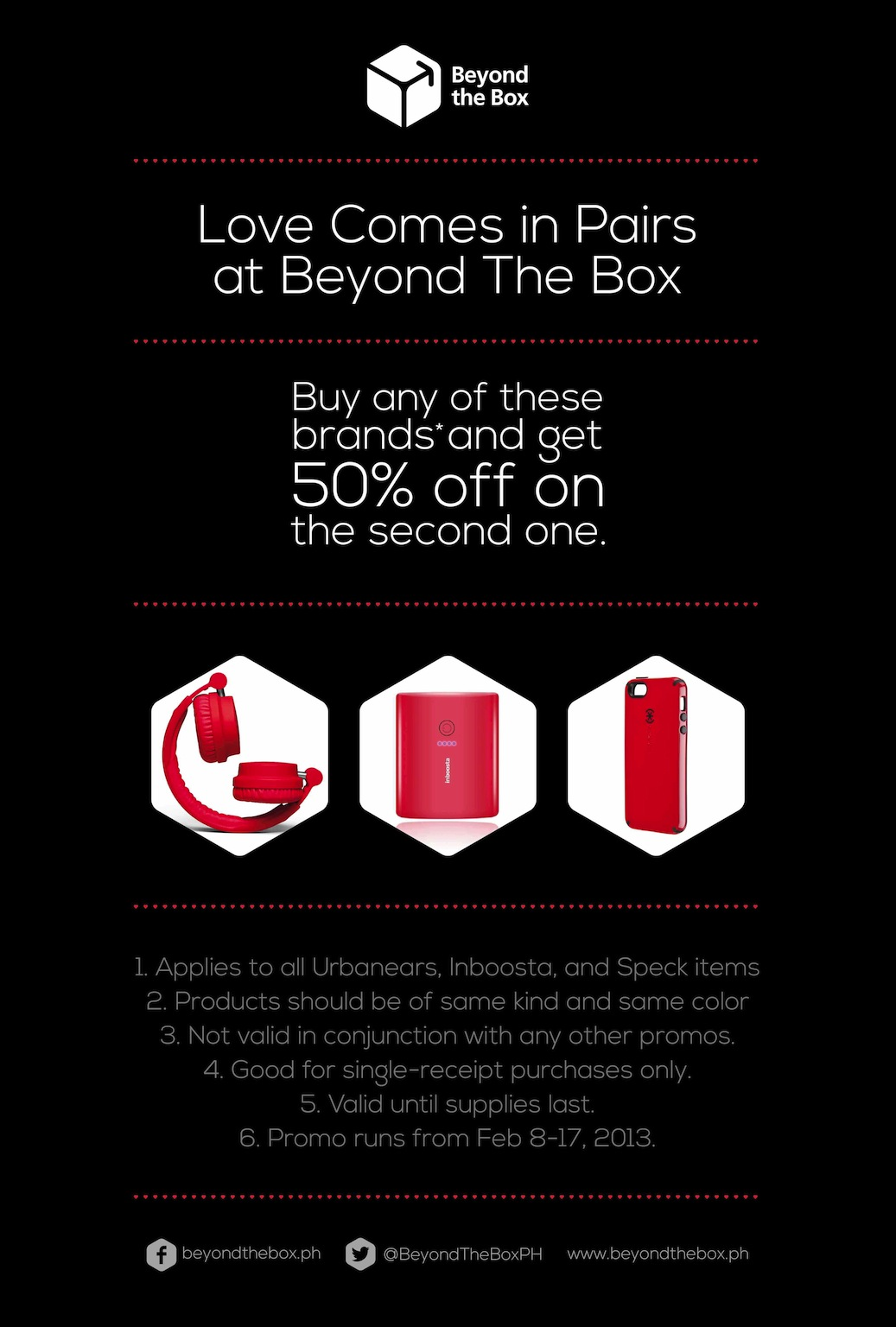 beyond the box sale promo valentines day