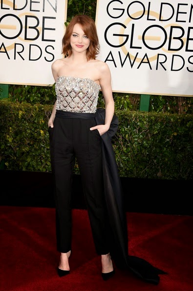 Emma Stone attends the 72nd Annual Golden Globe Awards