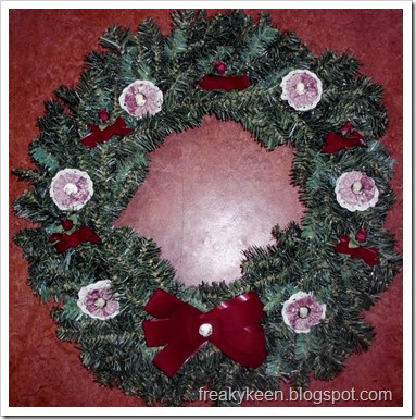 Red and Rose Wreath