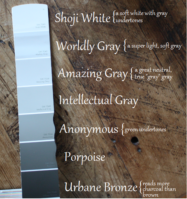 my paint colors via emilyaclark