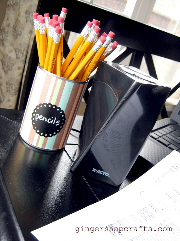 make your own pencil cup